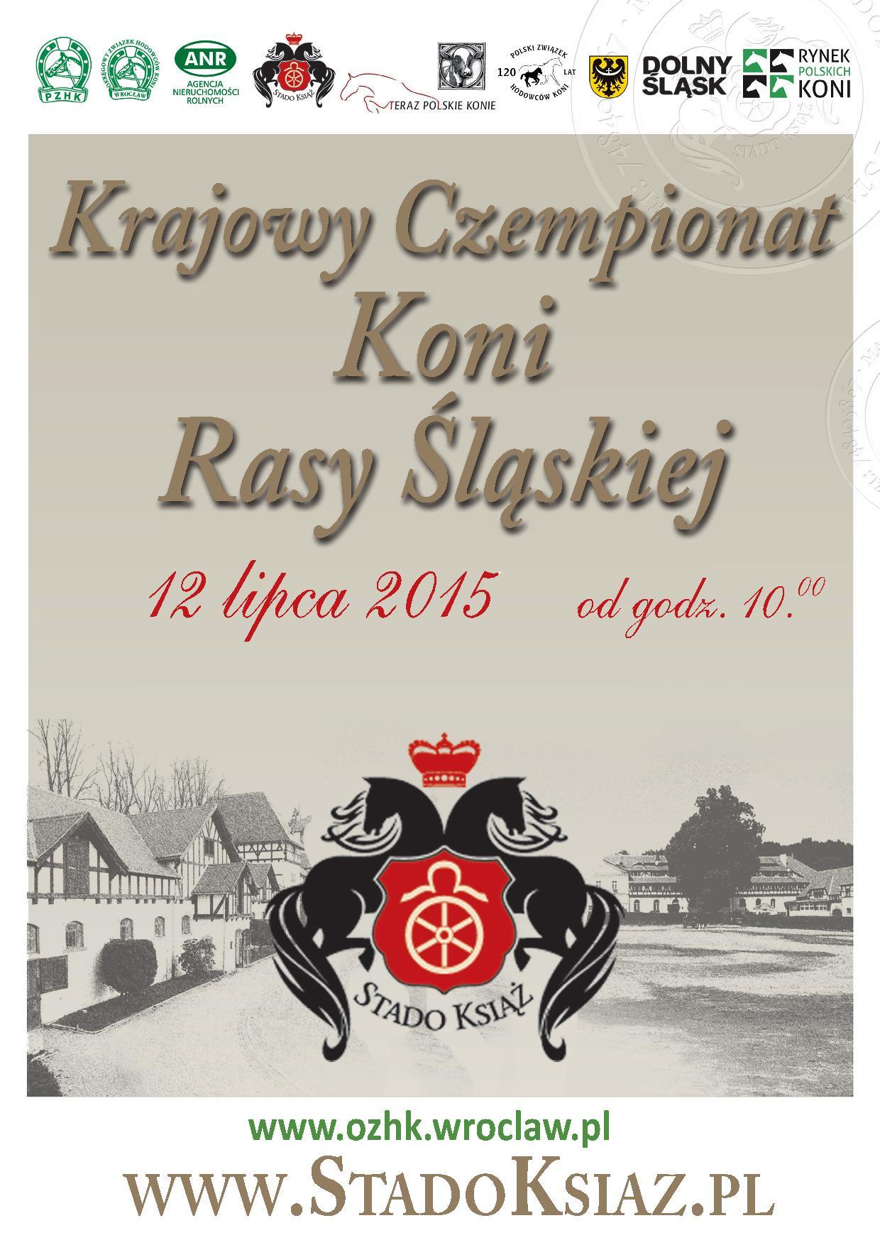 Krajowy Czempionat Koni Rasy Śląskiej – Stado Książ 2015